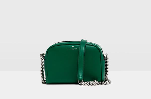 Borsa tracolla verde Philippe Model